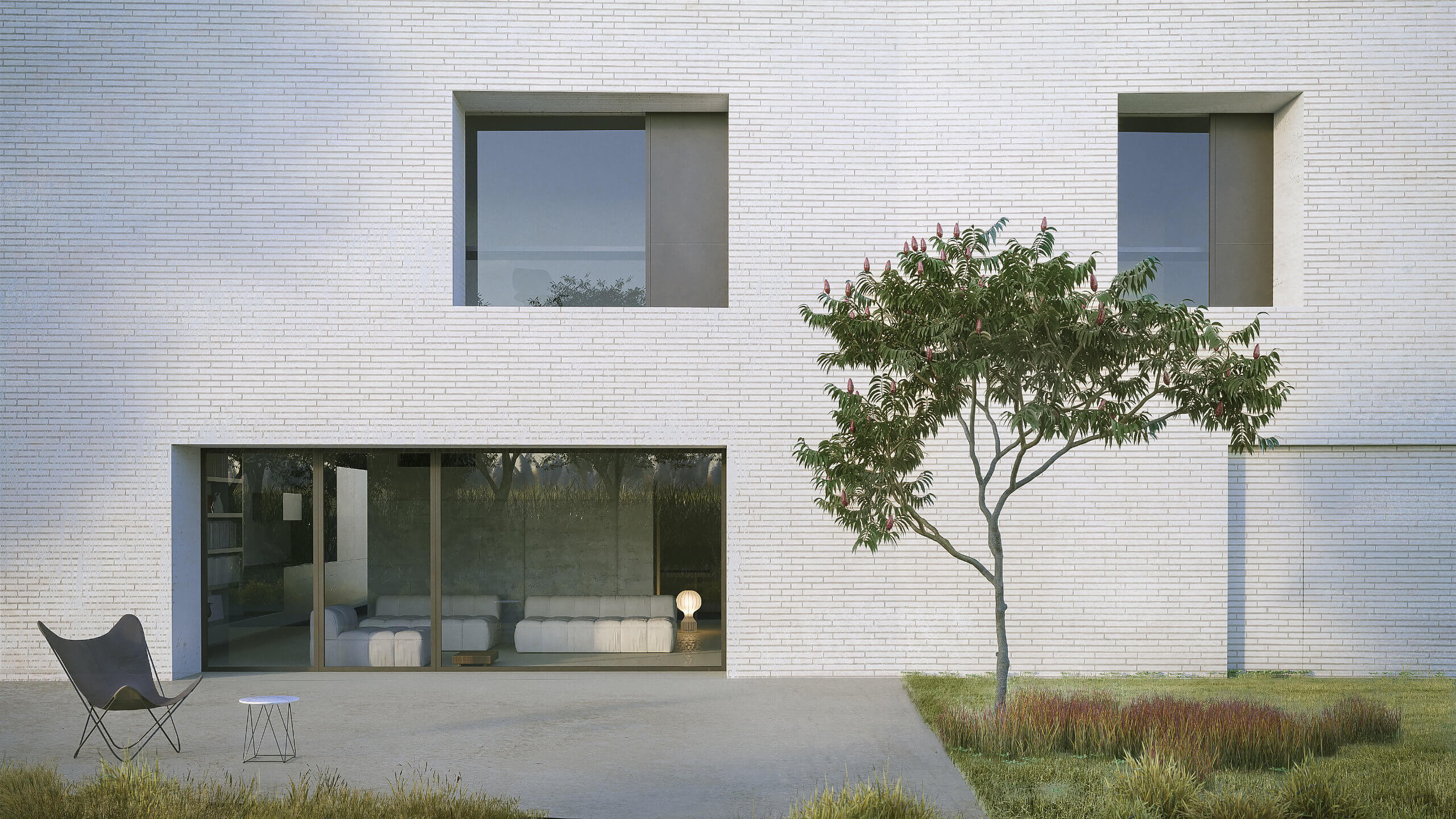 Casa Parco del Mulino - Veduta del soggiorno