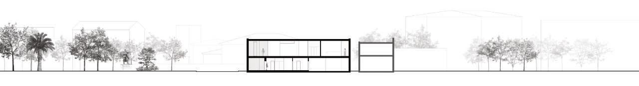 A11 Corte longitudinal – Edifício novo